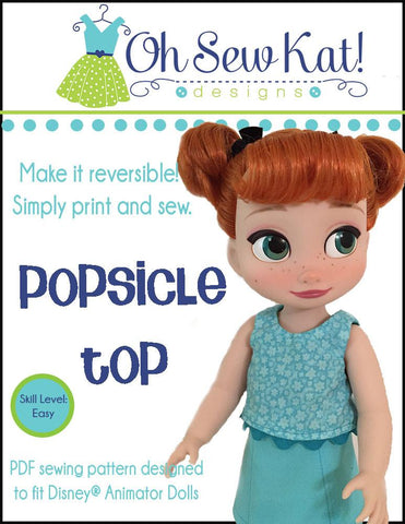 Popsicle Top For Disney Animator Dolls