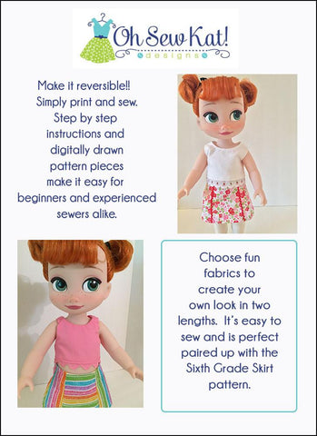 Popsicle Top Pattern For Disney Animator Dolls