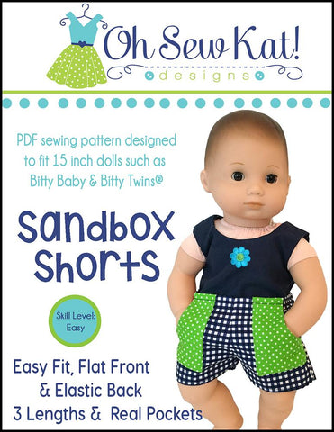 "Sandbox Shorts 15"" Doll Clothes Pattern"