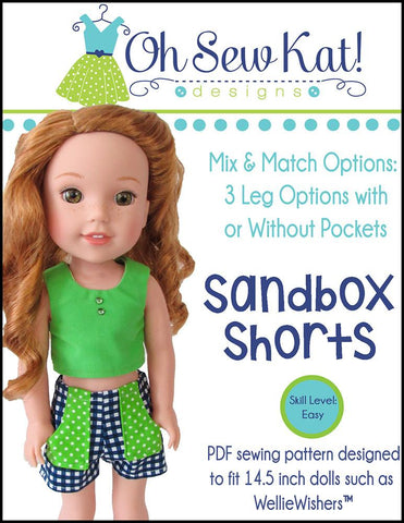 Sandbox Shorts for WellieWishers Dolls