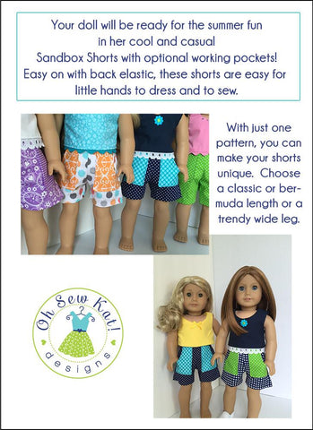 "Sandbox Shorts 18"" Doll Clothes"