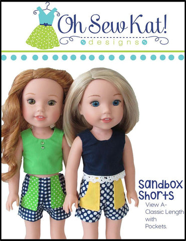 "Sandbox Shorts 14.5"" Doll Clothes Pattern"