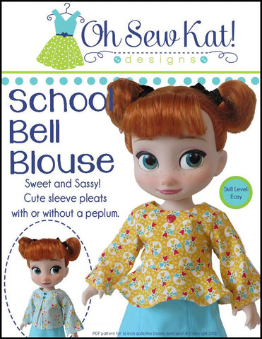 School Bell Blouse Pattern for Disney Animator Dolls