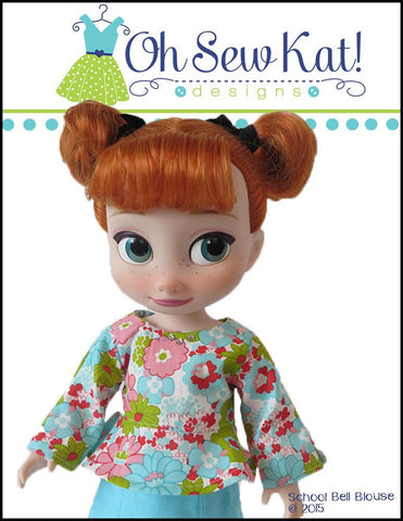 School Bell Blouse for Disney Animator Dolls