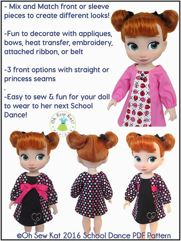 School Dance Pattern for Disney Animator Dolls
