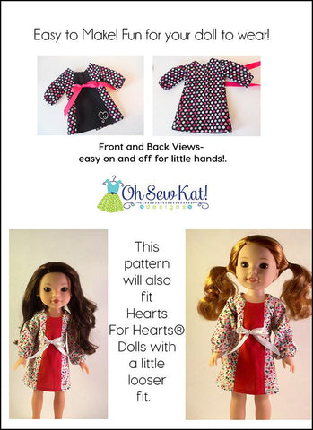 "School Dance Dress 14.5"" Doll Clothes Pattern"