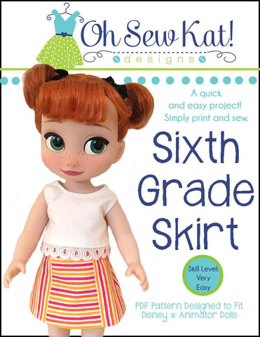 Sixth Grade Skirt For Disney Animator Dolls
