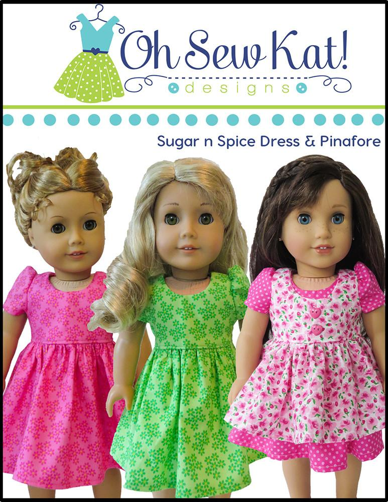 Oh Sew Kat Sugar N Spice Everything Nice Dress Pinafore With