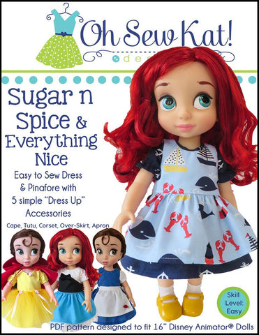 Sugar n Spice & Everything Nice Dress with Dress Up Accessories for Disney Animators' Dolls