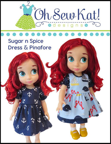 Sugar n Spice & Everything Nice Dress with Dress Up Accessories Pattern for Disney Animators' Dolls