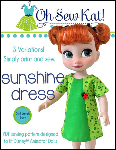 Sunshine Dress for Disney Animator Dolls