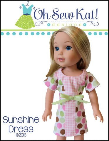 "Sunshine Dress 14.5"" Doll Clothes Pattern"