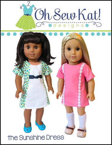 "Sunshine Dress 18"" Doll Clothes Pattern"