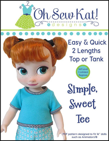 Simple, Sweet Tee for Disney Animators' Dolls
