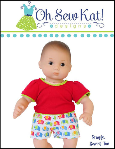 "Simple Sweet Tee 15"" Baby Doll Clothes Pattern"
