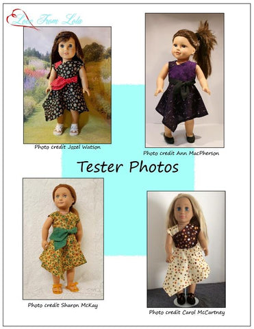 "Off Center Dress 18"" Doll Clothes Pattern"