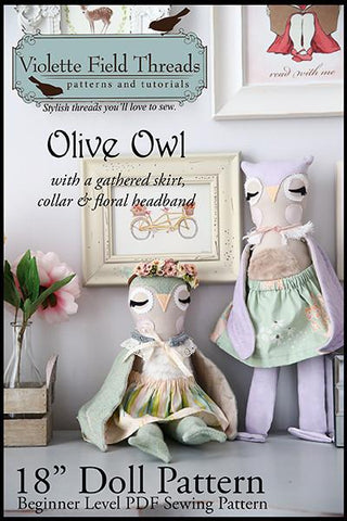 "Olive Owl 18"" Animal Doll"