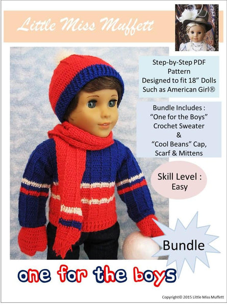 Little Miss Muffett One For The Boys Bundle Doll Clothes
