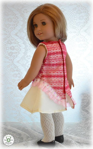 "One Of A Kind Dress 18"" Doll Clothes Pattern"