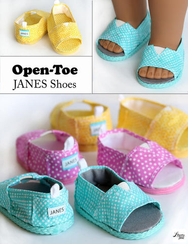 "Open-Toe JANES 18"" Doll Shoe Pattern"