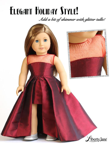 "Opening Night Dress 18"" Doll Clothes Pattern"