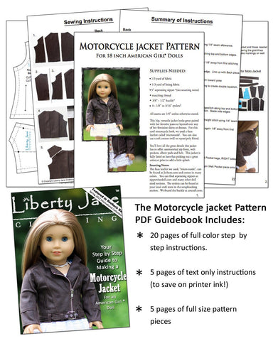 CD Doll Clothes Pattern Bundle - Jackets Collection