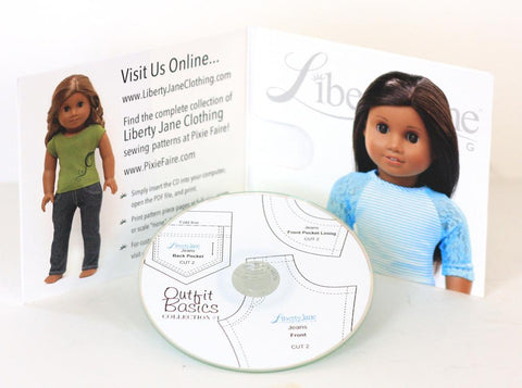 CD Doll Clothes Pattern Bundle - Outfit Basics Collection