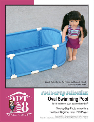 Pool Party Collection: Oval Swimming Pool PVC Pattern