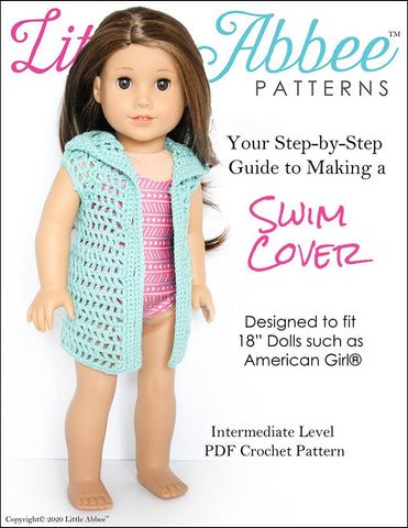 Crochet Swim Cover Pattern for 18 Inch Dolls