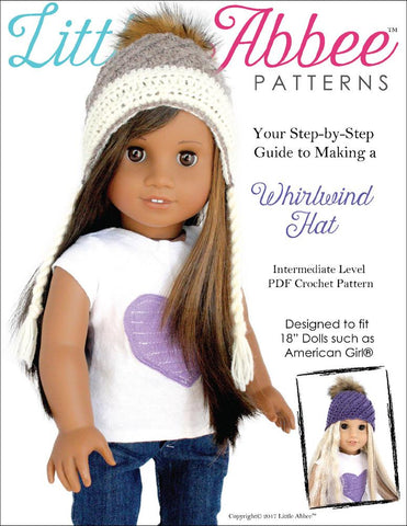 "Whirlwind Hat 18"" Doll Crochet Pattern"