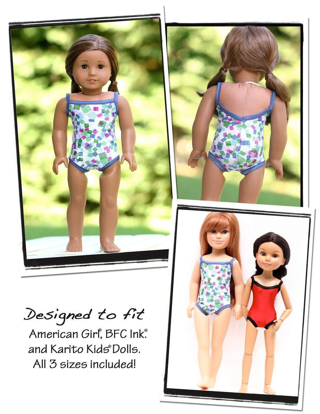 "1904 Swim Suit Sewing Pattern Fits 18/"" American Girl Doll #45"