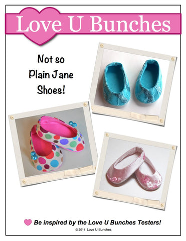 "Plain Jane 18"" Doll Shoes"
