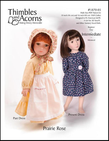 "Prairie Rose Bundle 16"" and 18"" Doll Clothes"
