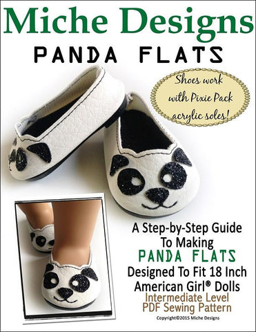 "Panda Flats 18"" Doll Shoes"