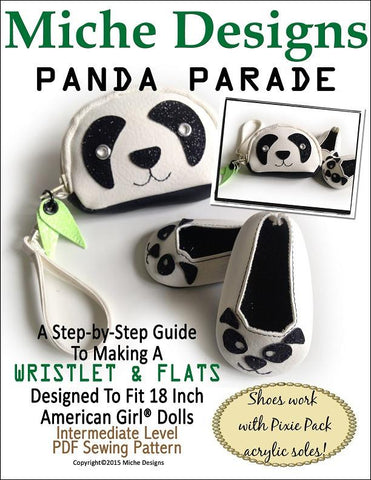 "Miche Designs 18 Inch Modern Panda Parade Bundle 18"" Doll Clothes Pixie Faire"