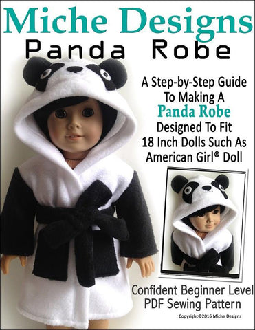 "Miche Designs 18 Inch Modern Panda Robe 18"" Doll Clothes Pixie Faire"