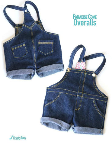 "Paradise Cove Overalls 18"" Doll Clothes Pattern"