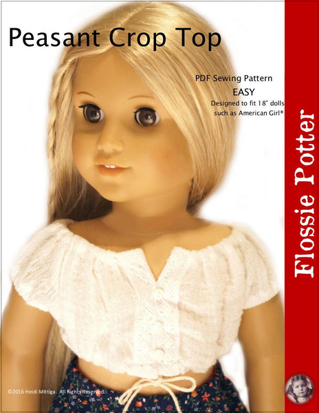 Flossie Potter Peasant Crop Top Doll Clothes Pattern 18