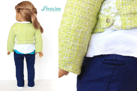 "Peleton Jacket 18"" Doll Clothes Pattern"