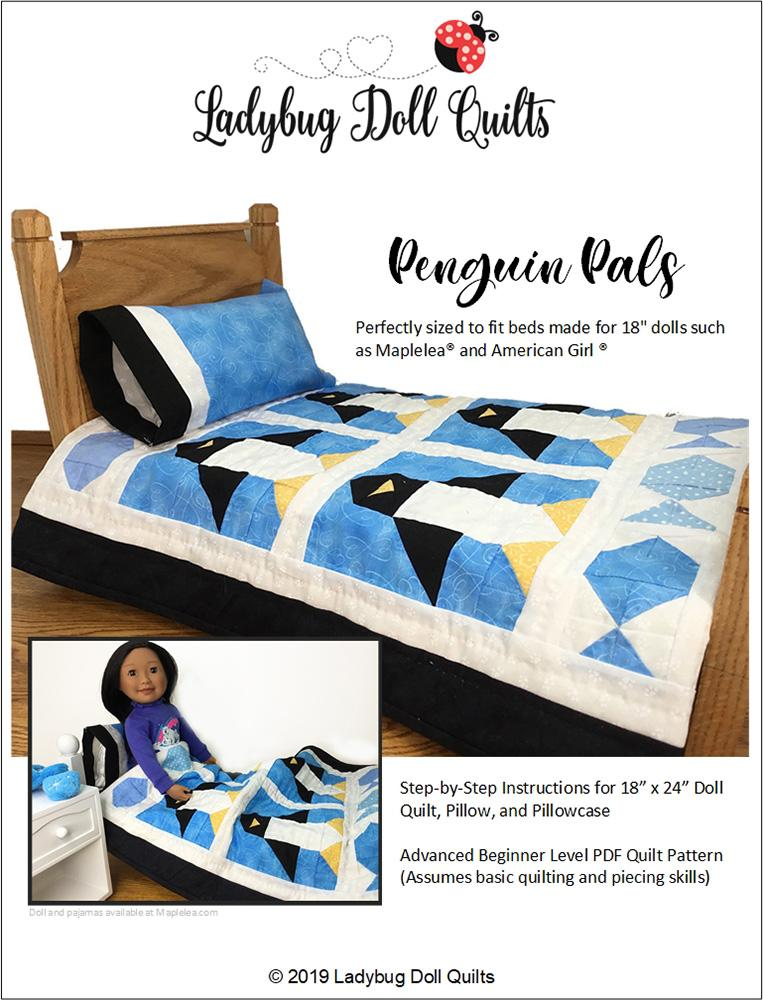 Ladybug Doll Quilts Penguin Pals 18 Doll Quilt Pattern