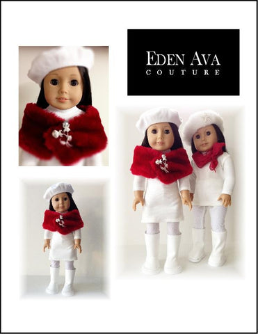 "Peppermint Snow Outfit 18"" Doll Clothes Pattern"