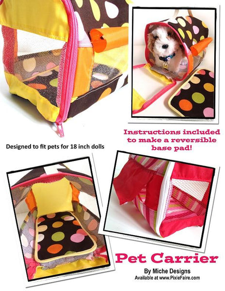 Miche Designs Pet Carrier Doll Clothes Pattern 18 Inch