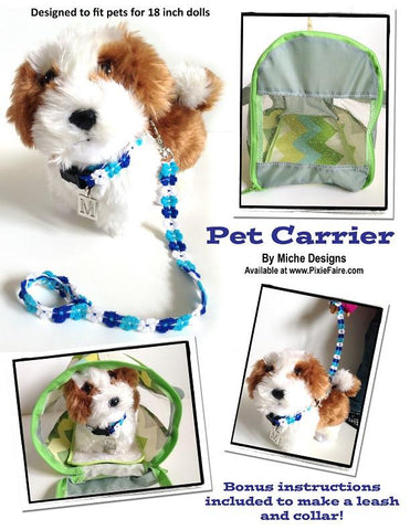 "Pet Carrier 18"" Doll Accessory Pattern"