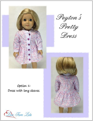 "Peyton's Pretty Dress 18"" Doll Clothes Pattern"