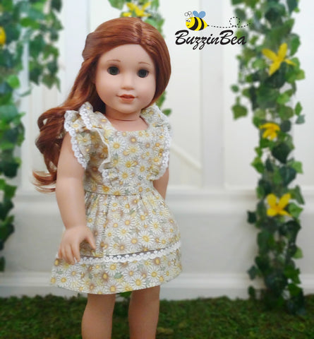 "Aster Dress 18"" Doll Clothes Pattern"