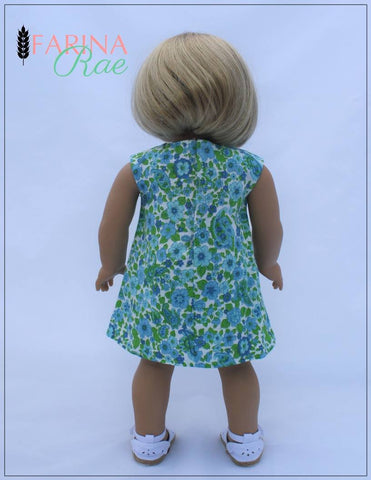 "Alyvia Dress 18"" Doll Clothes Pattern"