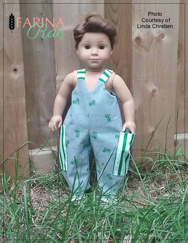 "Hip Hop Hannah Romper 18"" Doll Clothes Pattern"