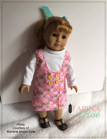 "Farina Rae 18 Inch Modern Ellen Jumper 18"" Doll Clothes Pattern Pixie Faire"