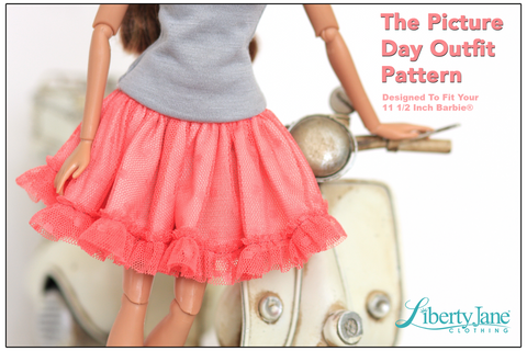 "Picture Day Skirt & Tank for 11-1/2"" Fashion Dolls"