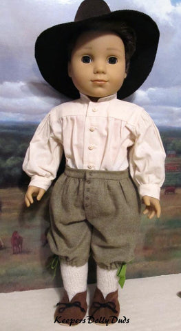 "Pilgrim Boy 18"" Doll Clothes Pattern"